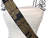 Hollywood Glamour Bride To Be Bachelorette Sash