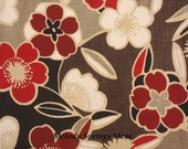 Red Blossom Floral Table Runner Rectangular Reversible Decorator Fabric Table Runner 21 x 53