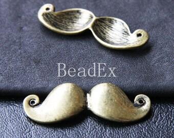 4 PCs / Moustache / Pendant / Antique Brass / Base Metal / Charms (CB26//H223)