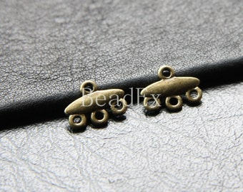 40pcs / 3 to 1 Component / Antique Brass / Multi Strands 12x9mm (YB21484//O312)