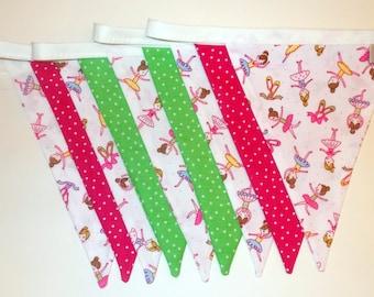Sale bunting, ballet bunting, ballet decor, girls bedroom decor, girls bunting, ballerina bunting, pretty bunting, summer bunting