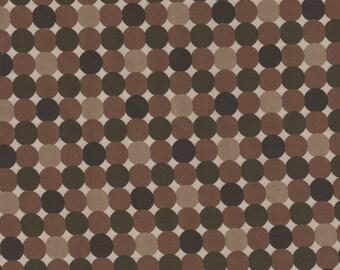 2 yards Taupe / Khaki Polka Dot / Chintz Stretch Fabric