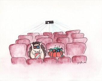 "At The Movies- 8""x10"" Print"
