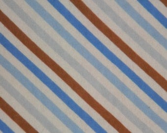 Blue, Brown, and White XL Flannel Receiving Blanket