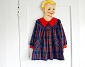 Vintage Plaid Toddler Dress size 2T 3T