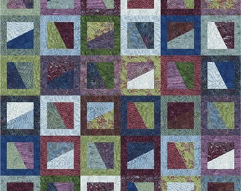 Instant Download - PDF Quilt Pattern - Flip Flop - Easy Jelly Roll & Layer Cake Quilt Pattern