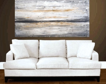 painting creme grey  abstract painting landscape painting from jolina anthony fast and free shipping