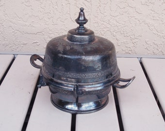 REED And BARTON MFD And Silver Plated Covered Butter Dish.
