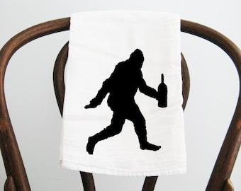 Flour Sack Towel Big Foot