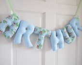 ARTHUR - Personalized Baby Name wall hanging, blue nursery. Boy Christening gift, baby boy baby shower gift, 1st birthday gift, Cath Kidston