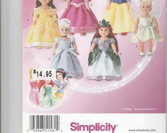 "Simplicity Princess and Fairy 18"" doll clothes pattern 1581"