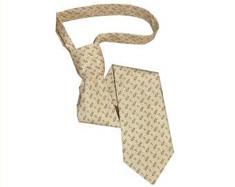 Christian fish and cross symbol necktie