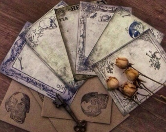 Morbid Victorian Miscellany - Sampler Note Card Set with Envelopes