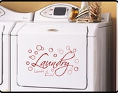Laundry Room Wall Decal, vinyl wall decor - Fun laundry room sign. Two sizes available!