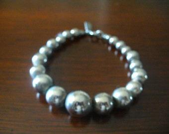 Vintage Karla Jordan Silver Plated Beaded Bracelet Costume Jewelry YourFineHouse Vintage Treasures Stocking Stuffers ShipsWorldwide