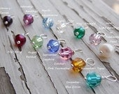 One Freshwater Pearl or Swarovski Crystal Birthstone Birth Stone  Charm Add on
