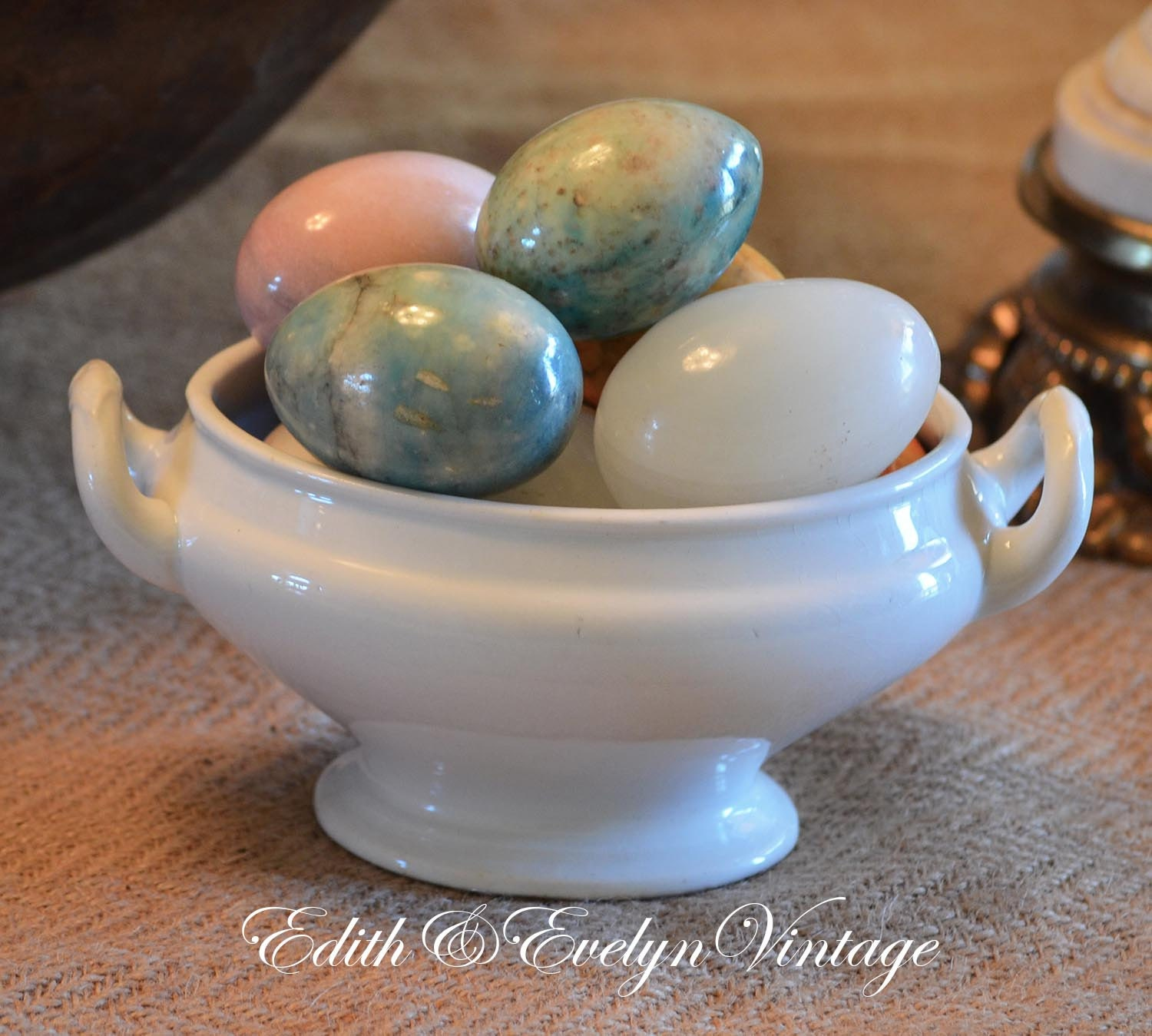 Vintage Marble Eggs Lot Of Seven Made In Italy
