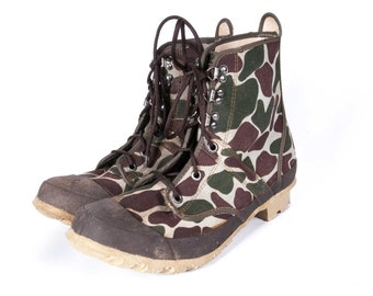 1980's Camo Hunting Boots