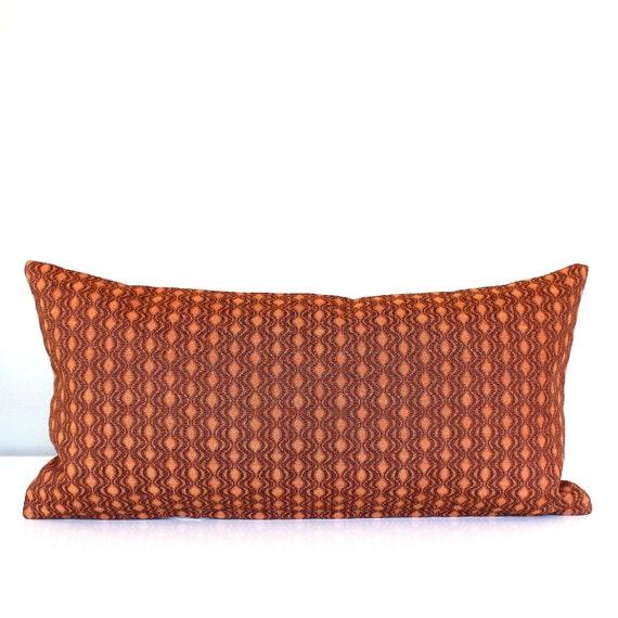 Decorative Pillow Rust : Lumbar Pillow Cover Rust Upholstery Decorative Oblong Accent