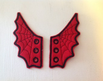 Spiderman inspired shoe wings great for Comicon