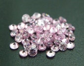 2mm Round CZ Pink Cubic Zirconia Loose Stones Lot