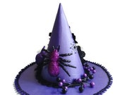Purple Witch Hat Halloween Party Centerpiece - lilaccottagecards