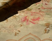 Antique French 19th Century Aubusson Tapestry of Flowers