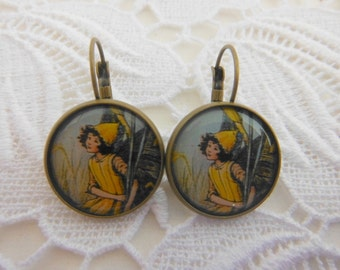 Yellow Traditional Fairy Earrings