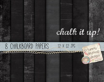 Digital Chalkboard Paper black, white, gray for cards, invitations, scrapbooks, photocards, paper crafts!