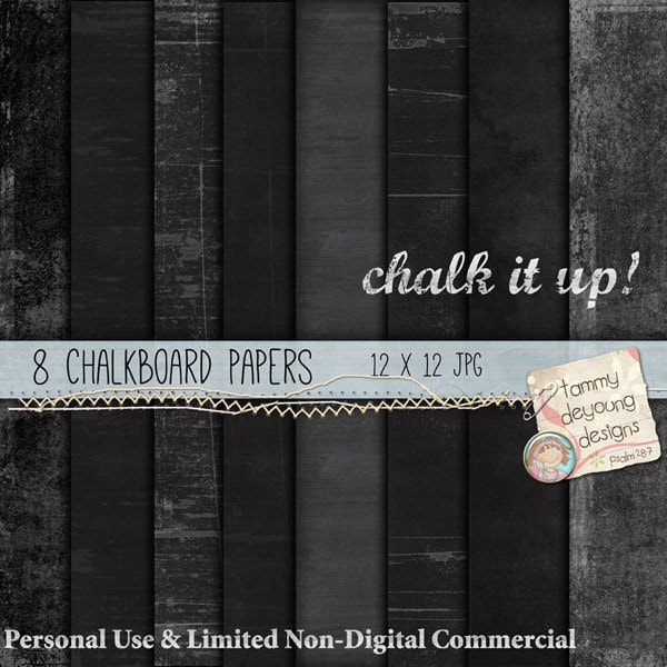 Digital Chalkboard Paper black, white, gray for cards, invitations ...