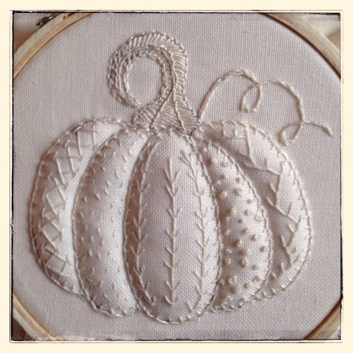 Hand embroidery pattern pumpkin sampler autumn by