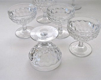 Fostoria American Pattern Short Sherbet Colorless Glass Set of 6