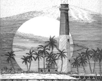 Loggerhead Key Lighthouse - Note Card Package