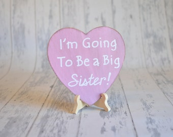 Baby/Birth Announcement/Gender Reveal/Girl's Photography Prop-I'm Going To Be a Big Sister!-Your Choice of Colors-Ships Quickly