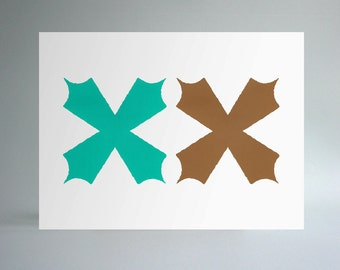 Untitled (Abstraction) - Mocha & Mint
