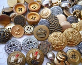 RESERVED  FOR IRIS   Metal Button Lot - Crafting Buttons - Sewing Buttons