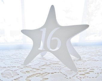 STARFISH Table Numbers - White - Freestanding