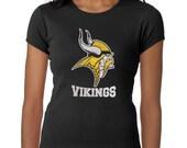 Women's Glitter Bling Vikings shirt