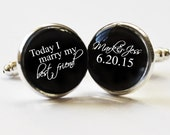 Gifts for the Groom - Groom cufflinks -  gift ideas for him - gifts for men  - anniversary gifts for men