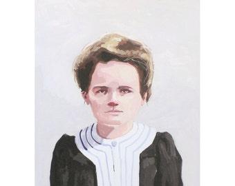 "5x7"" print - Marie Curie"