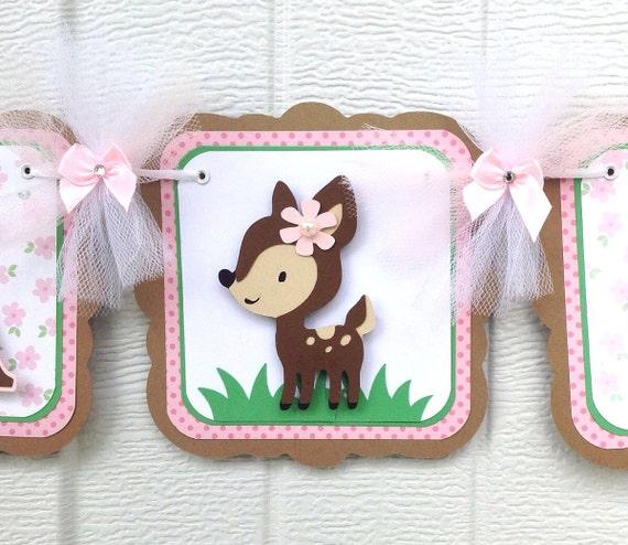 deer baby shower banner fawn baby shower deer banner girl deer