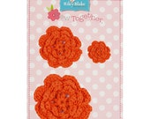 STORE CLOSING Sale Riley Blake Sew Together Orange Crochet Flowers 1 Pkg.