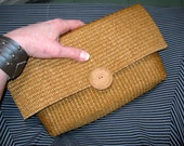Upcycled Straw Clutch Summer Sale