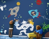 Kids Wall Decals - Outer Space Monkeys Removable Wall Decal