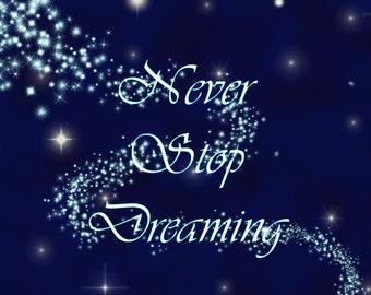 Inspirational Print Photo Motivational Fine Digital Art Photography Home Decor Blue Stars Dreaming Night Sky