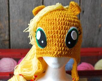 Applejack My Little Pony Crochet Hat