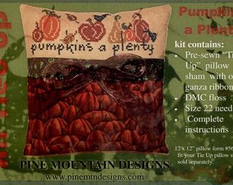 Pine Mountain Designs: Pumpkins a Plenty - An All Tied Up Cross Stitch Kit