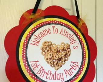 Cheerio Door Sign