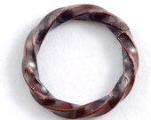 14 Gauge Copper Twisted Jump Rings Square Wire Antique Patina