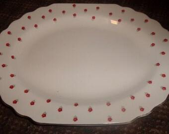 vintage w s george china blushing rose small serving platter
